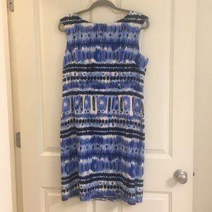 NWOT Tahari ASL print sheath dress, size 10